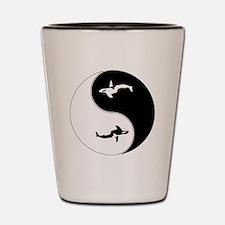 Yin Yang Whale Symbol Shot Glass
