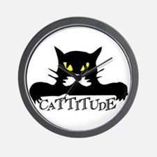 Cattitude.png Wall Clock