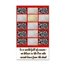 In a world of Crosses Rectangle Car Magnet
