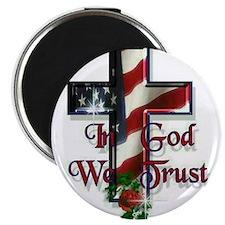 God we trust large Magnets