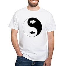 Yin Yang Rhinoceros Symbol Shirt