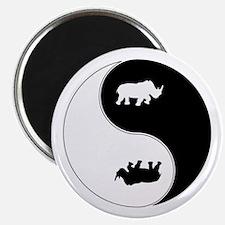 Yin Yang Rhinoceros Symbol Magnet