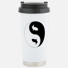 Yin Yang Rabbit Symbol Stainless Steel Travel Mug