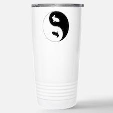 Yin Yang Rabbit Symbol Travel Mug