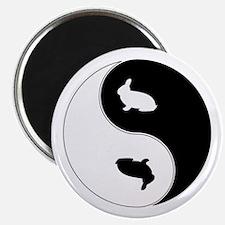 Yin Yang Rabbit Symbol Magnet