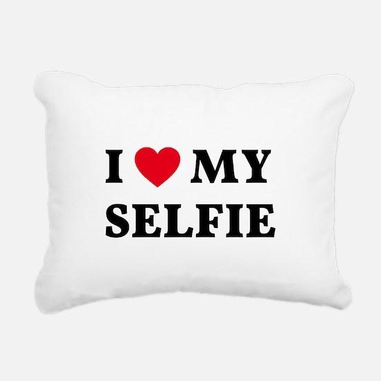 I love my selfie Rectangular Canvas Pillow