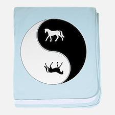 Yin Yang Horse Symbol baby blanket
