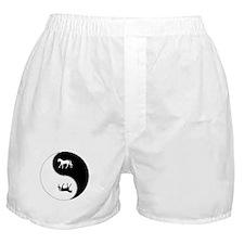 Yin Yang Horse Symbol Boxer Shorts