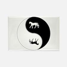Yin Yang Horse Symbol Rectangle Magnet (10 pack)
