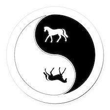 Yin Yang Horse Symbol Round Car Magnet