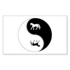 Yin Yang Horse Symbol Decal