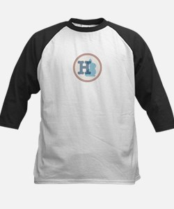 Letter H with cute bunny Baseball Jersey