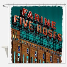 Farine Five Roses Neon Sign Shower Curtain