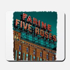 Farine Five Roses Neon Sign Mousepad
