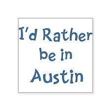 """Unique Austin Square Sticker 3"""" x 3"""""""