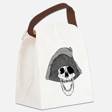 One Eye Pirate Skull  Canvas Lunch Bag