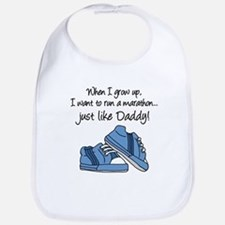 Run Marathon Just Like Daddy Bib