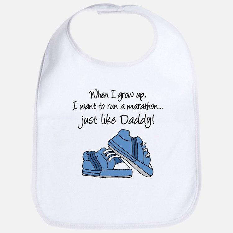 Run Marathon Just Like Daddy Bib
