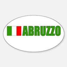 Abruzzo, Italy Oval Decal