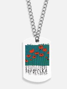 Devotchka Poppies Dog Tags