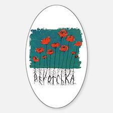 Devotchka Poppies Sticker (Oval)
