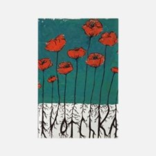 Devotchka Poppies Rectangle Magnet