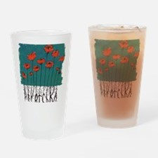 Devotchka Poppies Drinking Glass