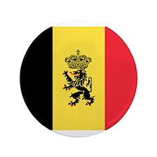 """Belgin Lion Flag 3.5"""" Button"""