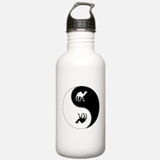 Yin Yang Camel Symbol Water Bottle