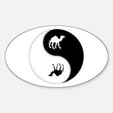 Yin Yang Camel Symbol Decal