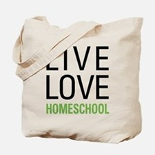 Live Love Homeschool Tote Bag
