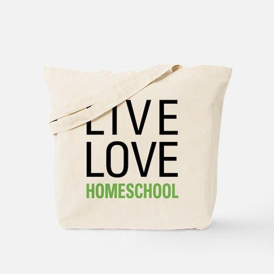 Live Love Homeschool Tote Bag