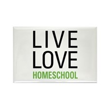 Live Love Homeschool Rectangle Magnet