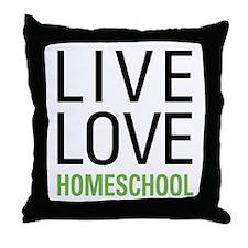 Live Love Homeschool Throw Pillow