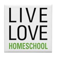Live Love Homeschool Tile Coaster