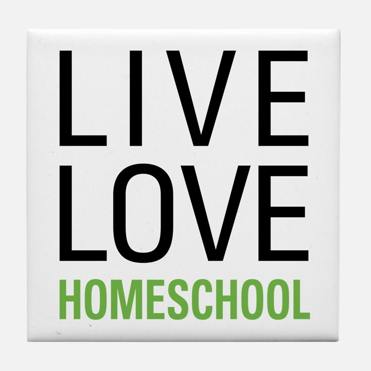 Live Love Homeschool Tile Coaster