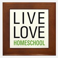 Live Love Homeschool Framed Tile