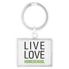 Live Love Homeschool Landscape Keychain