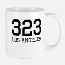 Los Angeles Area Code 323 Mugs