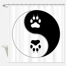 Yin Yang Paw Print Symbol Shower Curtain