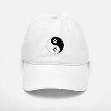 Yin Yang Paw Print Symbol Baseball Baseball Cap