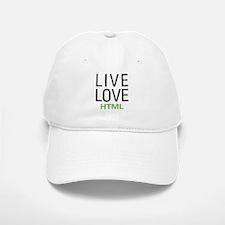 Live Love HTML Baseball Baseball Cap