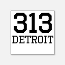 Detroit Area Code 313 Sticker