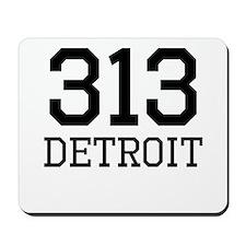 Detroit Area Code 313 Mousepad