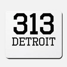 Detroit Area Code 313 Mousepad