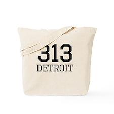 Detroit Area Code 313 Tote Bag