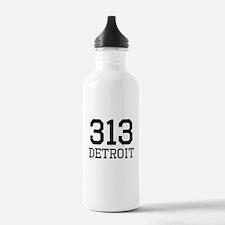 Detroit Area Code 313 Sports Water Bottle