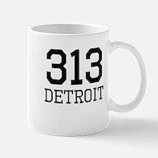 Detroit Area Code 313 Mugs