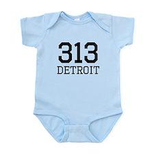 Detroit Area Code 313 Body Suit