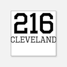 Cleveland Area Code 216 Sticker